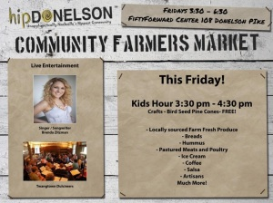 Hip Donelson Farmer's Market acoustic performance